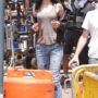 Krysten Ritter on the set of 'Jessica Jones'